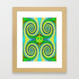 Peace Koru Framed Art Print