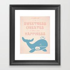 A Little Sweetness Framed Art Print
