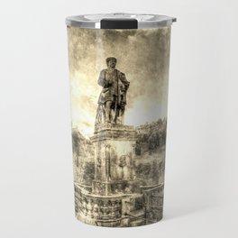 Allan Ramsey And Edinburgh Castle Vintage Travel Mug