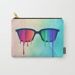 Love Wins! Rainbow - Spectrum (Pride) / Hipster Nerd Glasses Carry-All Pouch