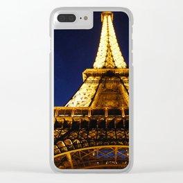 Eiffel Aglow Clear iPhone Case