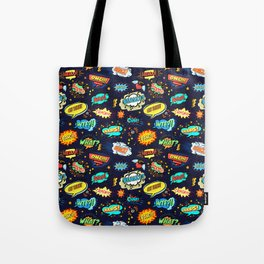 Retro Vintage Comic Book Speech Bubbles Design Tote Bag