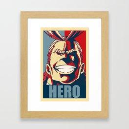 Boku no Hero Academia All Might Framed Art Print
