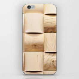 Background of wooden pieces iPhone Skin