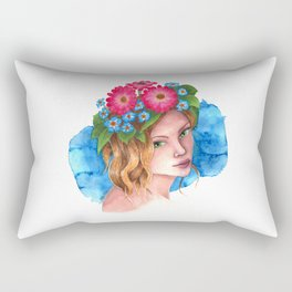 Myosotis - the flower girl Rectangular Pillow
