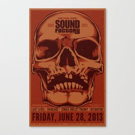 Sound Factory Final Show Poster (Variant) Canvas Print