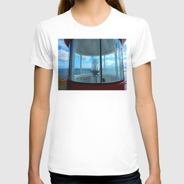 Lighthouse and Sea Beyond, seen from the Balcony T-shirt