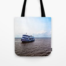 Amazon river boat Tote Bag