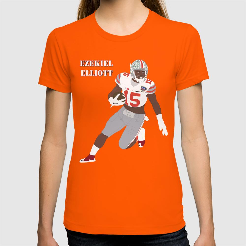 sale retailer b75d4 9e037 Ohio State Buckeyes - Ezekiel Elliott (2015) (Vector Art) T-shirt