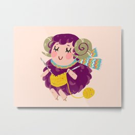 Animal Crossing Stella Metal Print