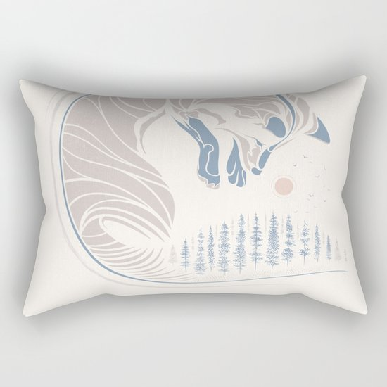 Chasing It's Tail Rectangular Pillow