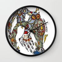 sam smith Wall Clocks featuring Sam by Maccu Maccu