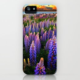 LUPINES FIELD iPhone Case