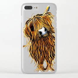 HIGHLAND CoW PRiNTS WaLL ART of Original Painting 'CoooWeee ' by SHIRLEY MACARTHUR Clear iPhone Case