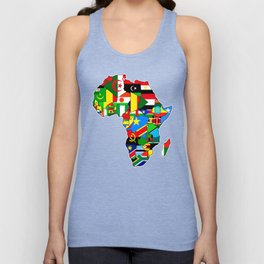 Flags of African countres Africa map Unisex Tank Top