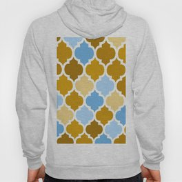 MOROCCAN BROWN AND BLUE DESIGN Hoody