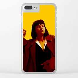Mia Wallace - Yellow Clear iPhone Case