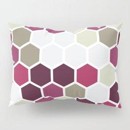Texture hexagons - Berry Pillow Sham