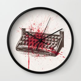 Misery - minimal, movie poster, Rob Reiner, Kathy Bates, Lauren Bacall, Stephen King Thriller Wall Clock