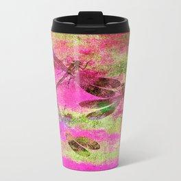 Mauritius Vintage Dragonflies Colours J Travel Mug