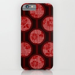 Retro-Delight - Simple Circles (Laced) - Cherry iPhone Case