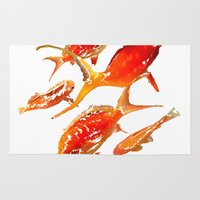goldfish Area & Throw Rugs featuring Goldfish by Regan's World
