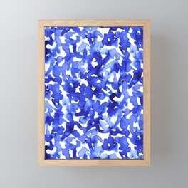 Energy Blue Framed Mini Art Print