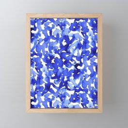 Energy Blue Framed Mini Art Print