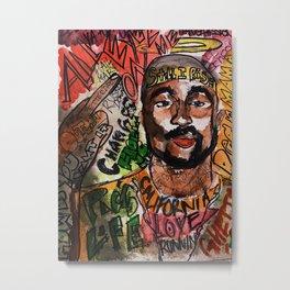 thug,rapper,rap,hiphop,music,rip,fan art,graffiti,street art,poster,colorful,lyrics,music,wall art Metal Print