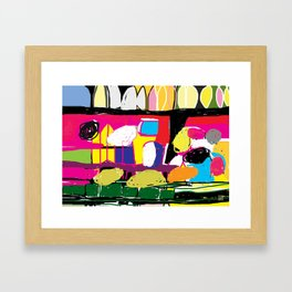 colorful digital abstract painting Framed Art Print