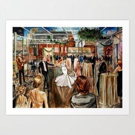 Britt & Jamie's Wedding Painting Art Print