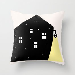 Midnight home Throw Pillow