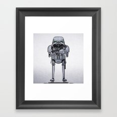 star storm fighter Framed Art Print