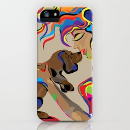 """Fall in Lust"" Paulette Lust's Original, Contemporary, Whimsical, Colorful Art  iPhone Case"