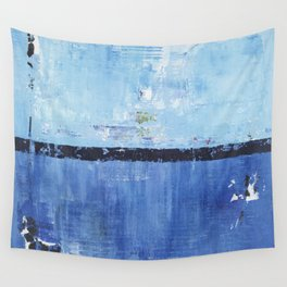 Shiver Abstract Art Blue Modern Water Painting  Wall Tapestry