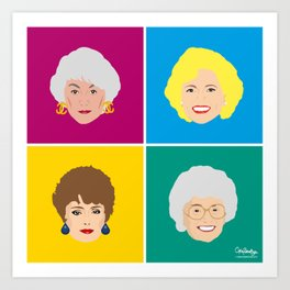 The Golden Girls - Pop Art Style Art Print