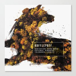 Hufflepuff Nature Canvas Print