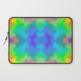 Rainbow Multicolored Watercolor Abstract Tie Dye Laptop Sleeve