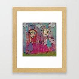Alien and Fairy friends Framed Art Print