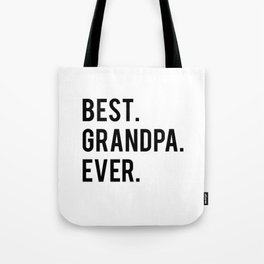 GRANDPA GIFT Typography Print Birthday Gift Best Grandpa Inspirational Quote Wall Art PRINTABLE Tote Bag