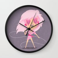 jem Wall Clocks featuring Jem by Rod Perich