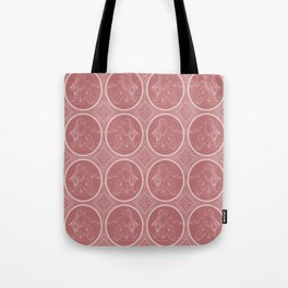 Grisaille Rose Red Neo-Classical Ovals Tote Bag