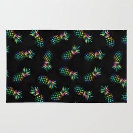 Iridescent pineapples Rug