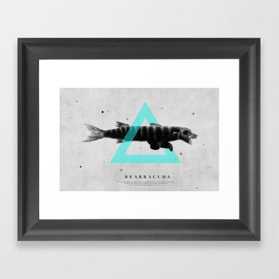 Bearracuda Framed Art Print
