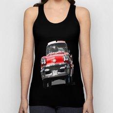 Red, Car Unisex Tank Top