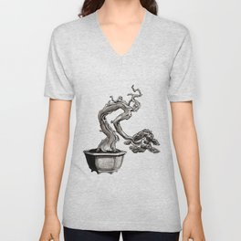 """Tree-man"" Bonsai Unisex V-Neck"