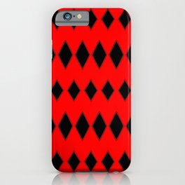 Black and Red Losange iPhone Case