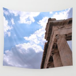 Sky above Parthenon Wall Tapestry