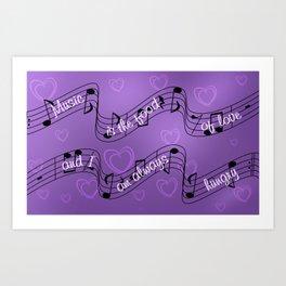 Music, food & love Art Print
