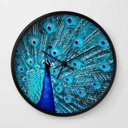 Peacock  Blue 11 Wall Clock